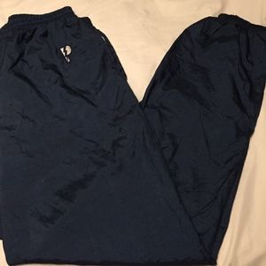 VTG PRO PLAYER MENS NYLON WINDBREAKER PANTS BLUE